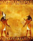 Anubis y Horus Imagenes de archivo