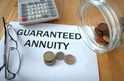 Anuidade garantida Imagem de Stock Royalty Free