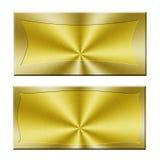 Anule a bandeira dourada Fotografia de Stock