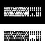 Anule as chaves de teclado Fotos de Stock Royalty Free