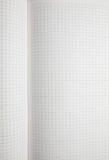 Anule a folha esquadrada do caderno Fotografia de Stock