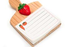 Anule o bloco de notas isolado da cozinha com trajeto de grampeamento Imagens de Stock