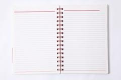 Anule o caderno alinhado    Foto de Stock Royalty Free