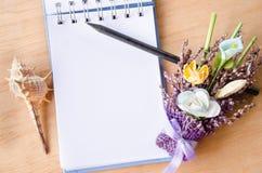 Anule o diário aberto Imagens de Stock Royalty Free
