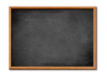 Anule a placa preta com frame de madeira fotografia de stock royalty free