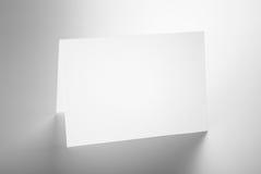 Anule a posição dobrada do cartão Imagem de Stock