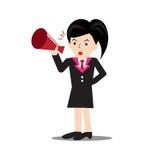 Anunciación de las mujeres de negocios Imagen de archivo libre de regalías