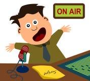 Anunciador de radio ilustración del vector