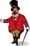 Anunciador del circo ilustración del vector