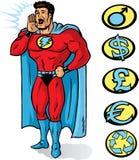 Anunciador do super-herói Fotografia de Stock