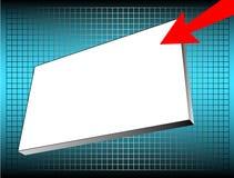 Anunciando a bandeira Fotos de Stock
