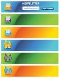 Anunciando bandeiras Imagens de Stock