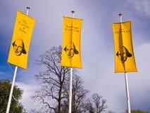 Anunciando jogos de Shakespeare Fotos de Stock Royalty Free