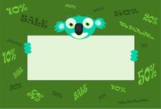 Anunciando o poster para a venda com koalou Fotografia de Stock