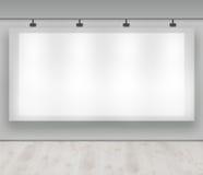 Anuncie aqui - a bandeira de anúncio em branco imagens de stock royalty free