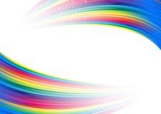 Anuncio colorido del arco iris Fotografía de archivo libre de regalías
