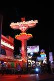 Anuncio comercial, tira de Las Vegas Foto de archivo libre de regalías