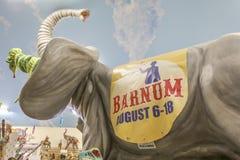 Anuncio de Barnum Bailey Circus Fotografía de archivo libre de regalías