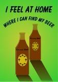 Anuncio de la cerveza de Brown Imágenes de archivo libres de regalías