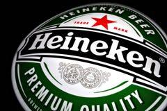 Anuncio de la cerveza de Heineken Imagen de archivo