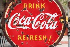 Anuncio de la Coca-Cola Fotografía de archivo libre de regalías