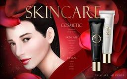 Anuncio de la crema de Skincare stock de ilustración