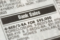 Anuncio de la ejecución de una hipoteca