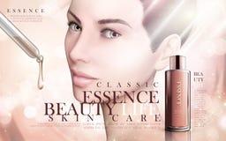 Anuncio de la esencia de Skincare libre illustration