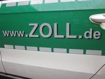 Anuncio de las aduanas de Alemania y del servicio del impuesto sobre artículos de comercio interior: WWW zoll de Foto de archivo libre de regalías