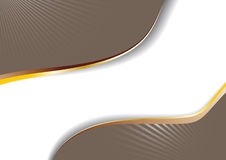 Anuncio del Cappuccino con las líneas de oro Imagen de archivo