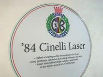 Anuncio del laser de Cinelli Fotos de archivo