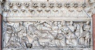 Anuncio, natividad y adoración de unos de los reyes magos Imágenes de archivo libres de regalías