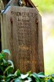 Anuncio pionero del cementerio del piñón Fotografía de archivo