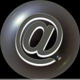 Anuncio publicitario del botón del Web @ Fotografía de archivo libre de regalías