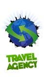 Anuncio publicitario del diseño de la agencia de viajes stock de ilustración