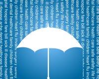 Anuncio publicitario del seguro de la salud y de vida
