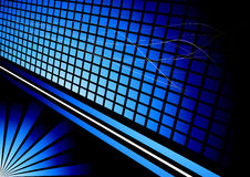 Anuncio tridimensional azul Stock de ilustración