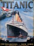 Anuncio viejo - titánico Imagen de archivo libre de regalías