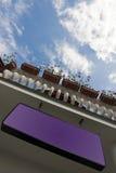 Anuncio violeta Fotografía de archivo libre de regalías