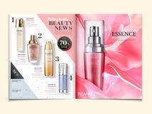 Anuncios cosméticos de la revista ilustración del vector