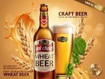 Anuncios de la cerveza del trigo libre illustration