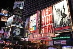 Anuncios de la demostración de Broadway Foto de archivo