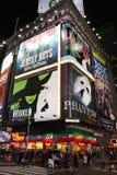 Anuncios de la demostración de Broadway Imagen de archivo libre de regalías