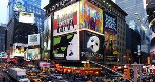 Anuncios de la demostración de Broadway Fotografía de archivo libre de regalías