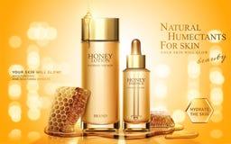 Anuncios de producto del skincare de la miel ilustración del vector
