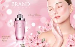 Anuncios del cosmético de Skincare libre illustration