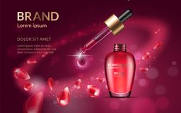 Anuncios del perfume de la granada ilustración del vector