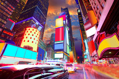 Anuncios suprimidos Nueva York de Manhattan del Times Square Imagen de archivo libre de regalías