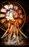 Anunnaki prince alien ufo. 3D render science fiction illustration Stock Photography