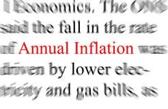 anunual通货膨胀 免版税库存照片